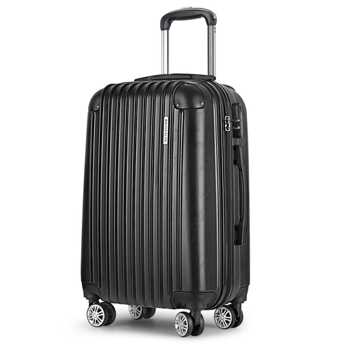 Wanderlite 24inch Lightweight Hard Suit Case Luggage Black