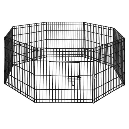 "i.Pet 24"" 8 Panel Pet Dog Playpen Puppy Exercise Cage Enclosure Play Pen Fence"
