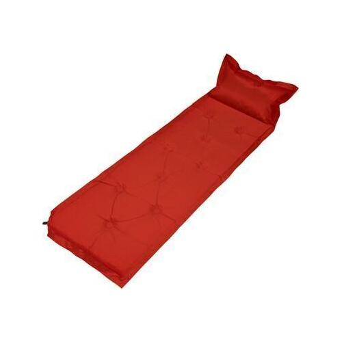 Trailblazer 9-Points Self-Inflatable Polyester Air Mattress With Pillow - RED